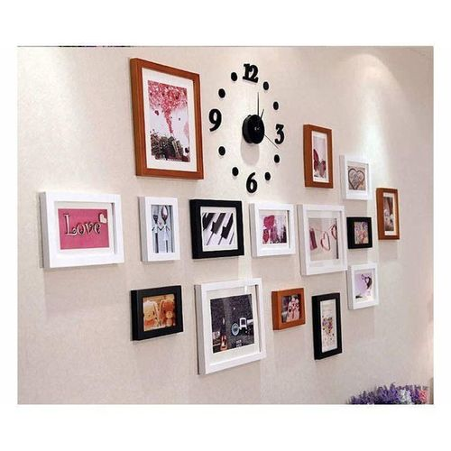 3D DIY Acrylic Number Wall Clock Home Decoration