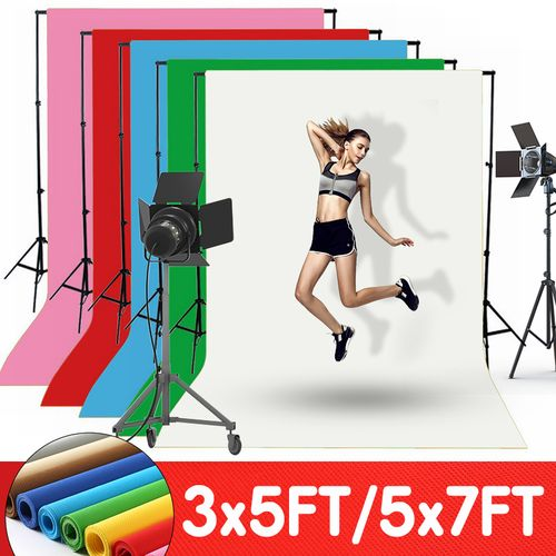 5x7ft Solid Color Photography Background Screen Cotton Studio Backdrop Photo ?
