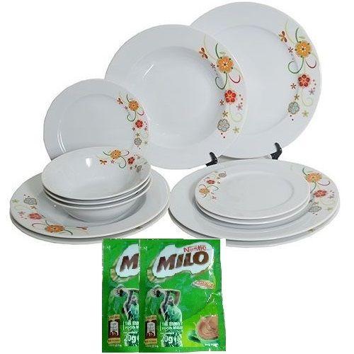 Premium 12 Piece Dinner Plate Set - Matruska
