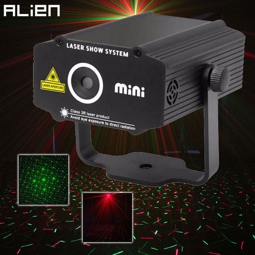 ALIEN Mini R&G Laser Projector Stage Lighting Effect Red Green Star Light Disco DJ Club Bar Party Dance Holiday Show Lights ASQOB