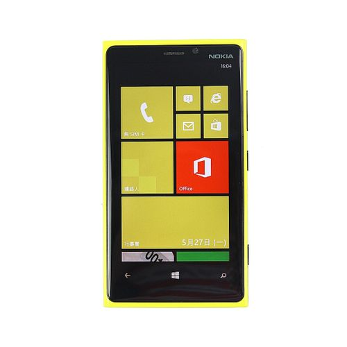Lumia 920 Mobile Phone 4.5 Inch Capacitive Screen Dual Core 32G ROM 1G RAM Smartphone(Yellow)