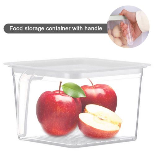 Square Transparent Plastic Food Preservation Box