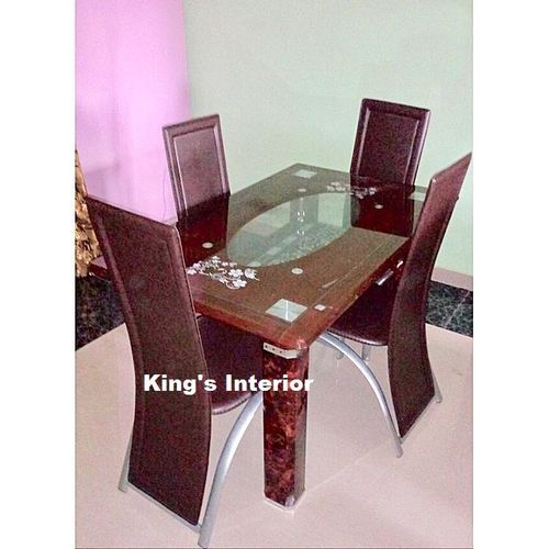 Dining Table With 4 Chairs (Prepaid Only)