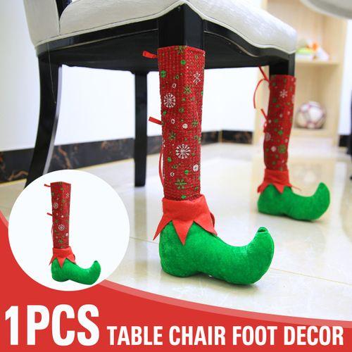 1Pcs Christmas Decor Table Chair Foot Leg Cover Stools Feet Cover