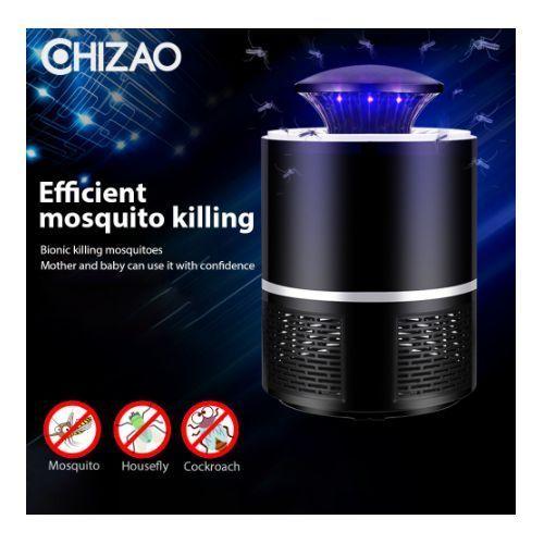 Home Silent Mosquito Killer USB Rechargeable LED Light-Black/White