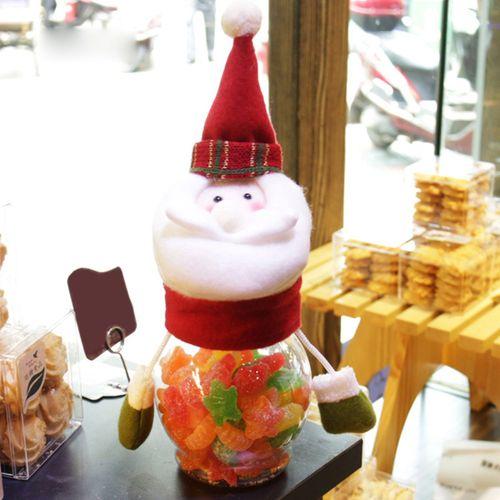 Christmas Candy Storage Bottle Jar Sweet Gift Box Santa Jar