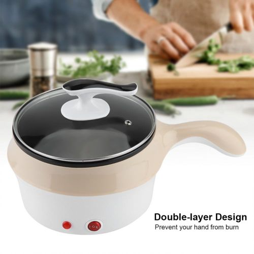 Student Mini High Quality Dormitory Pot/Pan Electric Skillet Wok Cooking Noodle Pot Khaki 220V