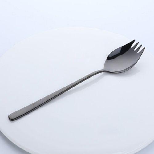 Stainless Steel Thicken Spoon Creative 2-in-1 Fork Kitchen Gadget