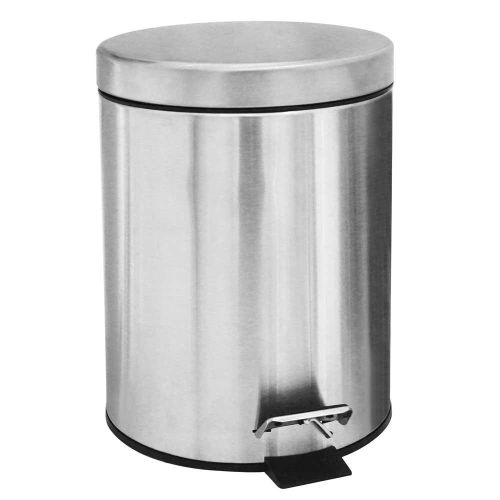 12 Liters Stainless Steel Waste Bin With Pedals