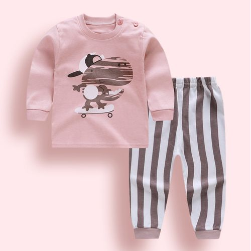 Infant Baby Boys Girls Clothes Sets Outfits Cotton Animal Sports Suit For Newborn Baby