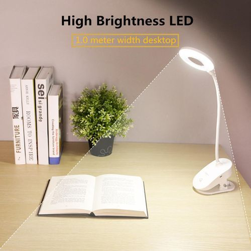 Loveliness 3 Modes Touch Dimming USB Clip LED Light Desk Table Reading Study Lamp Xmas Gift