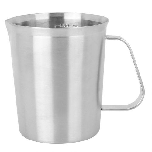 500ML Stainless Steel Measuring Cup Latte Milk Frothing Mug With Handle Kitchen Supplies