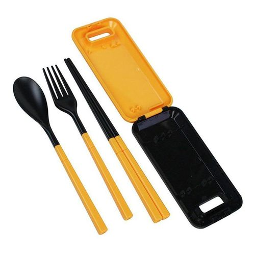 3 In 1 Portable Travel Kids Adult Cutlery Travel Fork Tableware Dinnerware Sets Camping Picnic Set Gift For Child Kids