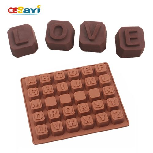Chocolate Mold Cute Lovely Letter Silicone Fondant Cake Mold Kitchen Baking & Pastry Tools