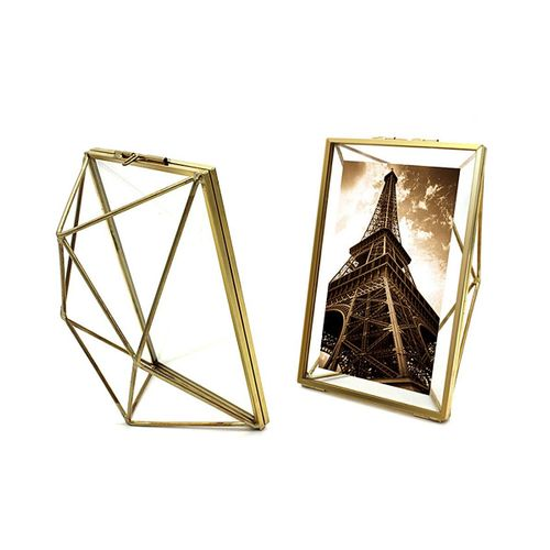 Photo Frame Desktop Wall Prismatic Geometric Photo Frame