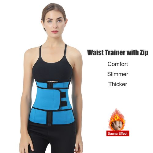 Sweat Waist Trainer Zipper Corsets Body Shaper