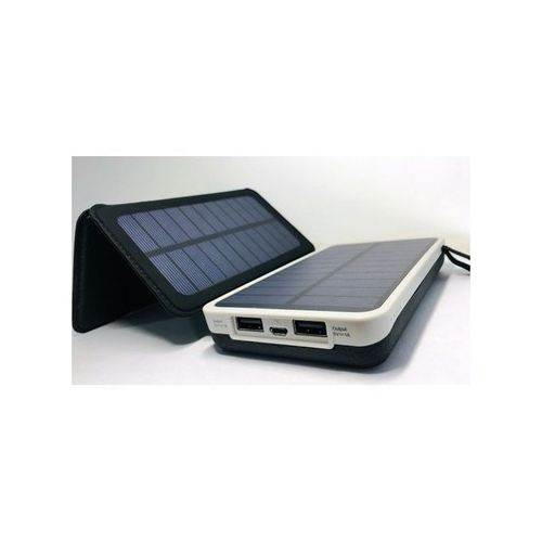 10,000mAh Solar Power Bank With Flashlight