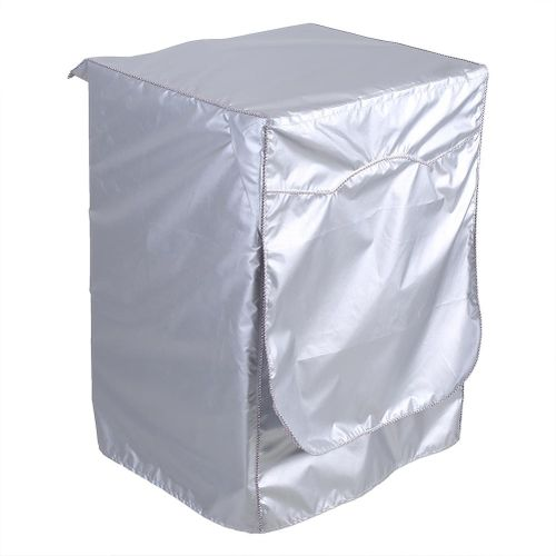 Silver Washing Machine Cover Waterproof Sunscreen Cover Front Load Washer Dryer Coat Protection