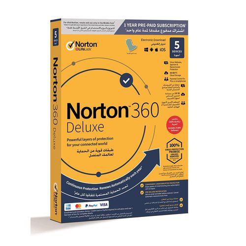 NEW 360 Deluxe Internet Security, Antivirus, VPN 5 Devices