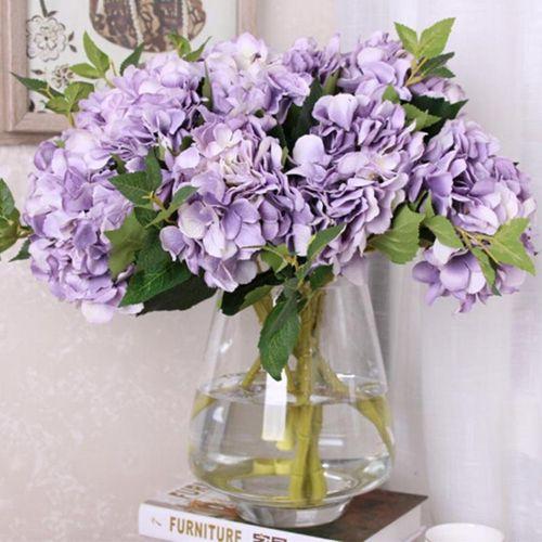 1pc Artificial Fake Flowers Carnations Floral Bouquet Bridal Hydrangea