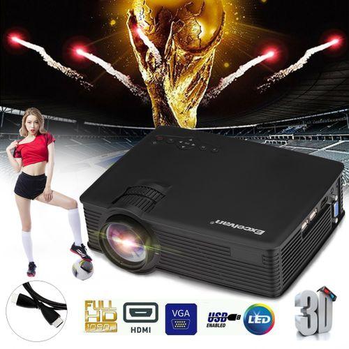 GP9 Mini LED Projector 800x480 Pixels 1200 - Black