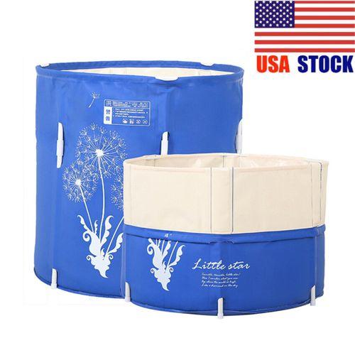 Adult/Baby Folding Bathtub PVC Material Tub Place Room Spa Massage Bath Tub