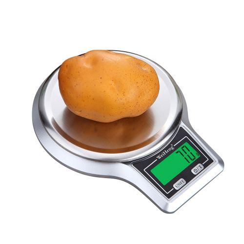 WeiHeng Electronic Digital Kitchen Scale Stainless Steel Weighing Pan Food Scale Platform Scale With Tare Function