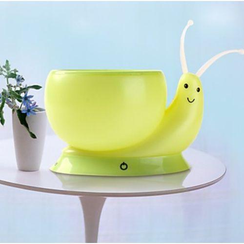 USB Rechargeable Snail LED Flower Pot Desk Lamp