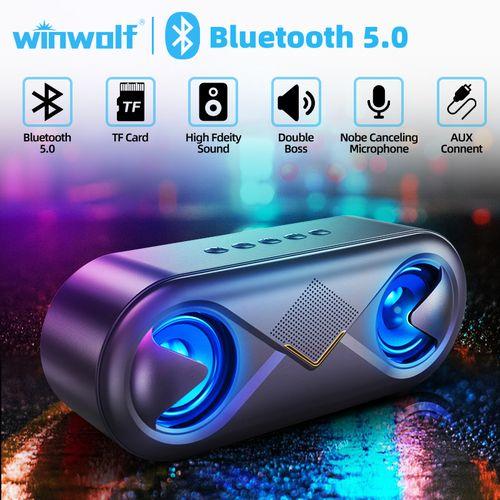 S6 Audio Music Rhythm Lights Bass Wireless Bluetooth Speaker