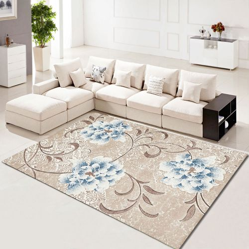 Floor Mat Flower Patterned Elegant Home Supple Washable Mat