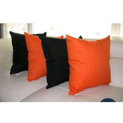 Black N Orange Throw Pillows-4pieces.