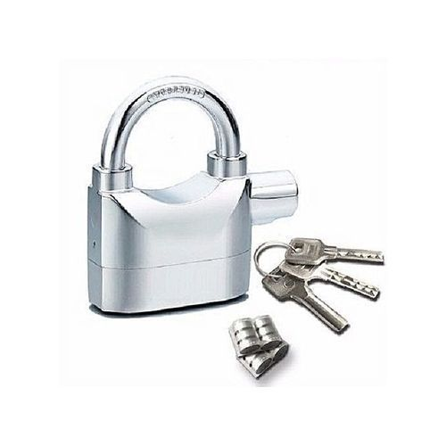 Alarm Padlock For Door/Motor/Bike/Car 110db Anti-Theft Security Lock Set With Batteries