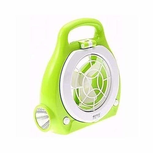 Portable Rechargeable Table Fan And Lamp
