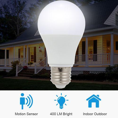 7W E26/E27 LED Light Bulb With Motion Sensor Intelligent