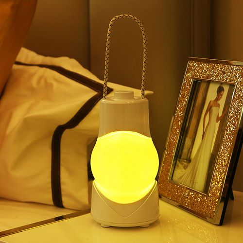 CLAITE Creative Music Oortable Night Light Portable Lamp Smart Switch Rechargeable Decorate Music Light Besides Timer Desk Lamp