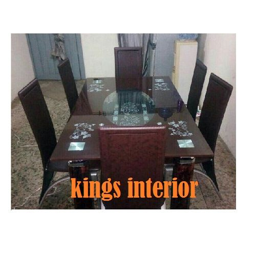 Executive Glass Dinning With 6 Chairs