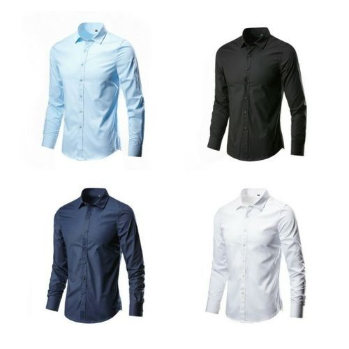 Quality Four In One Smart And Fitted Corporate Plain Shirts - Multi Color