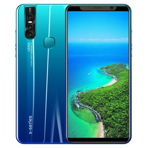 X27 Water Drop Screen Smart Phone Dual Card Dual Standby Mobile Phone - 5.72 Inch - 4+64G - Gradient Blue
