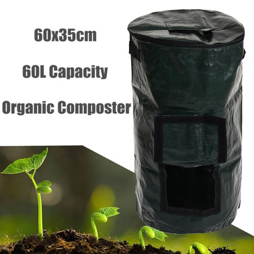 Organic Composter Waste Converter Bin Eco Friendly Compost Storage Garden