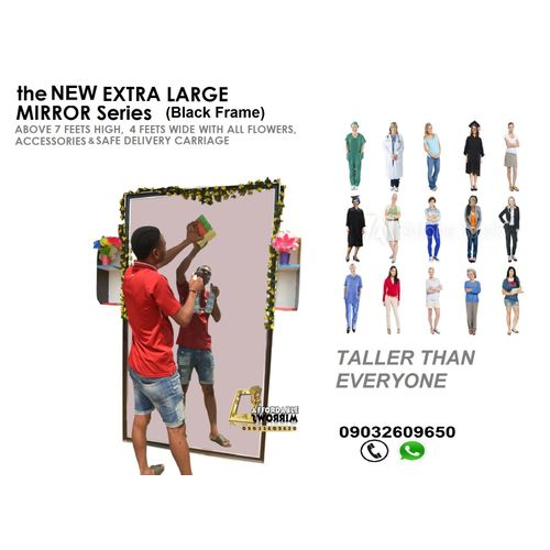 GREAT Mirror, Taller Than You,7 Feets Plus, Black Frame