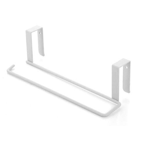GB Kitchen Towel Holder Storage Rack Cabinet Cupboard Draining Metal Shelf-white