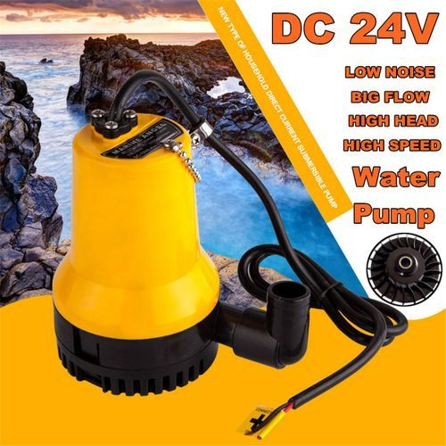 24V 4500L/H Submersible Water Pump Electric Clean Drain Dirty Pool Pond Flood