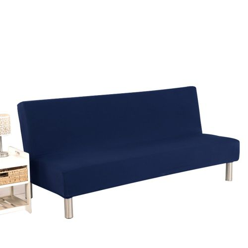 Sofa Cover All Inclusive Without Armrest Folding Bed Cushion Navy