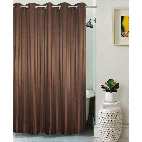 Antifungal Cotton Shower Curtain (Brown)