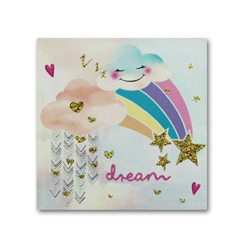 UNICORN Rainbow Canvas Wall Art Prints Pictures Canvas Home Bedroom Decoration - Framed