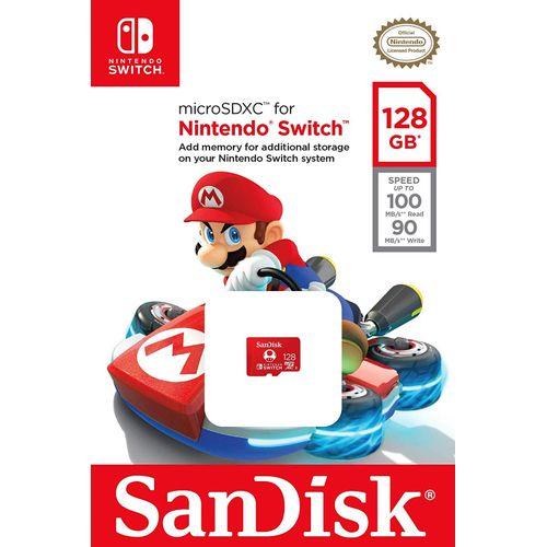 UHS-I MicroSDXC Memory Card For The Nintendo Switch (SDSQXAO-128G-GNCZN) - [128GB]