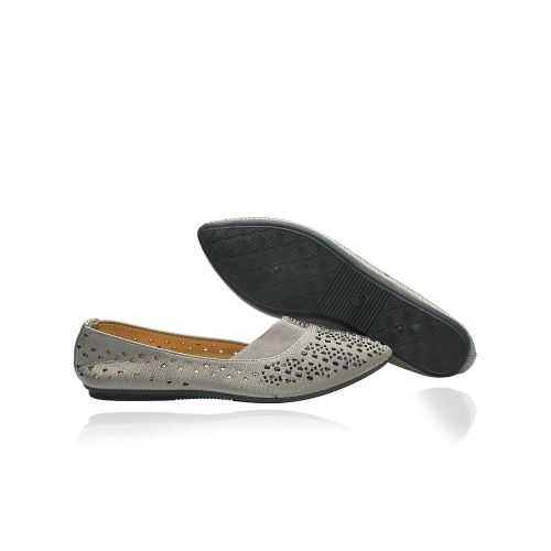 New Carribbean Female Flat Shoe - Ash