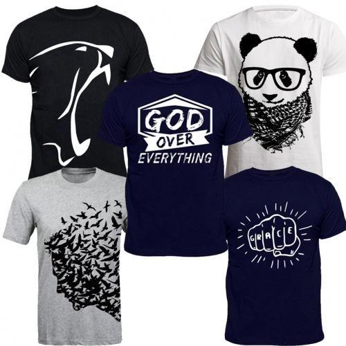 Best Sellers Senior T-Shirt Bundle (5-in-1) - Grey, Navyblue, White, Black