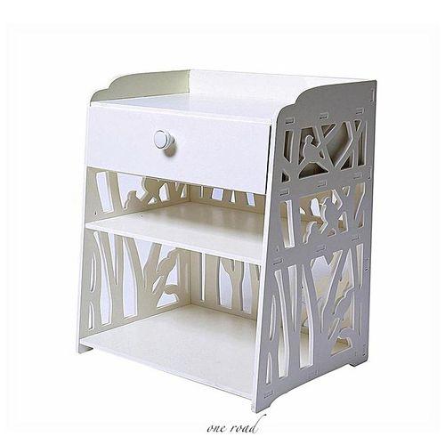 White Bedside Cabinet Bedside Cabinet Storage Cabinet Shelf 40X30X50Cm