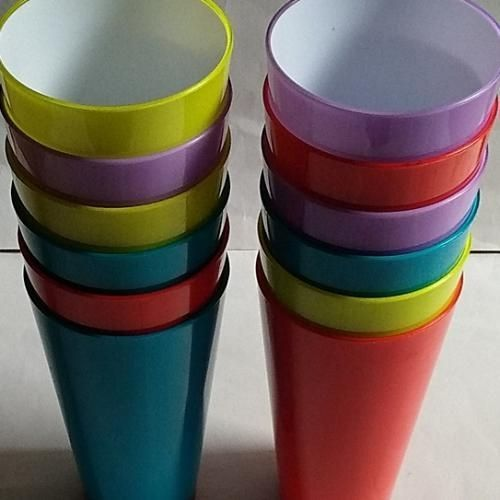 Colorful Acrylic Cup Set Of 12 Souvenir Pack